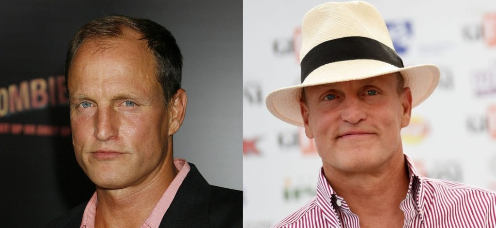 (L) Woody Harrelson at the Zombieland premiere in 2009 | Jeffrey Mayer/Wire Image, (R) Woody Harrelson in 2019