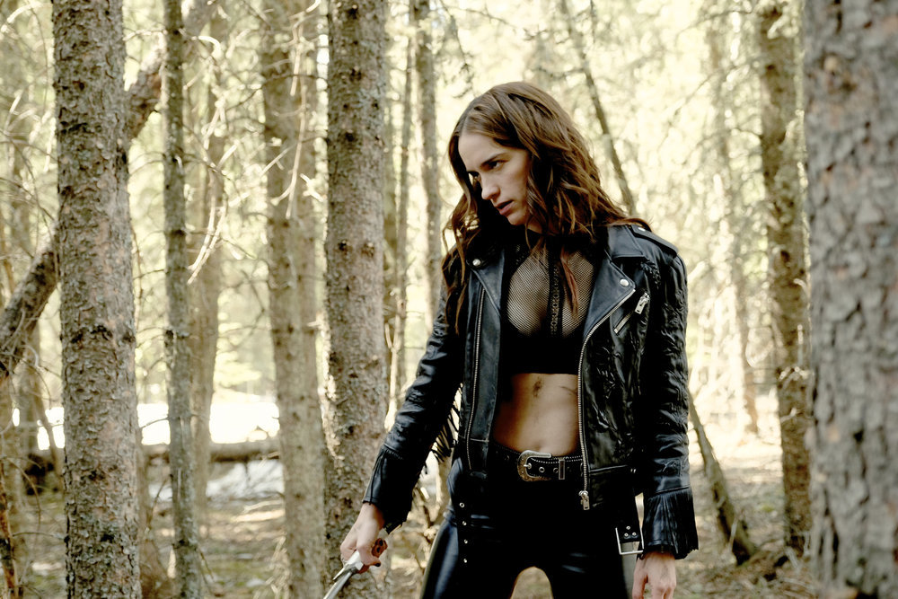 "Wynonna Earp ""War Paint"" Episode 312 -- Melanie Scrofano as Wynonna Earp"