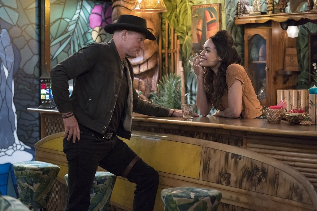 Woody Harrelson and Rosario Dawson in Zombieland: Double Tap