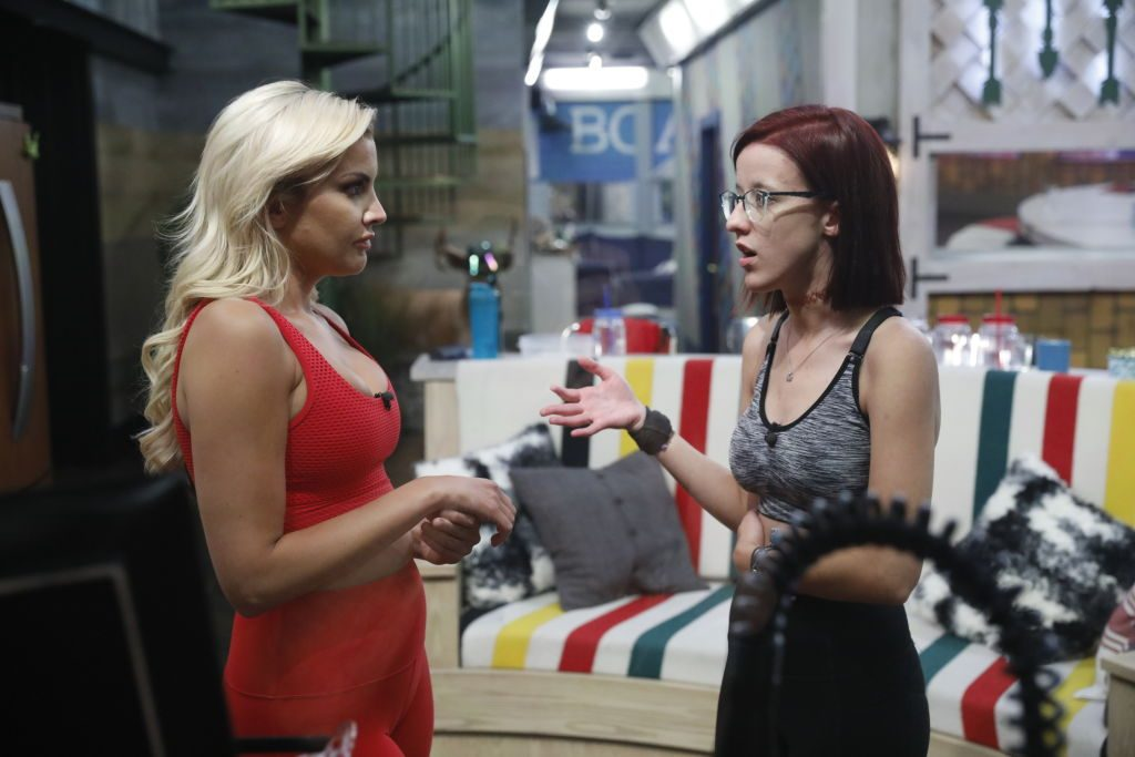 Kathryn Dunn and Nicole Anthony are talking on 'Big Brother'