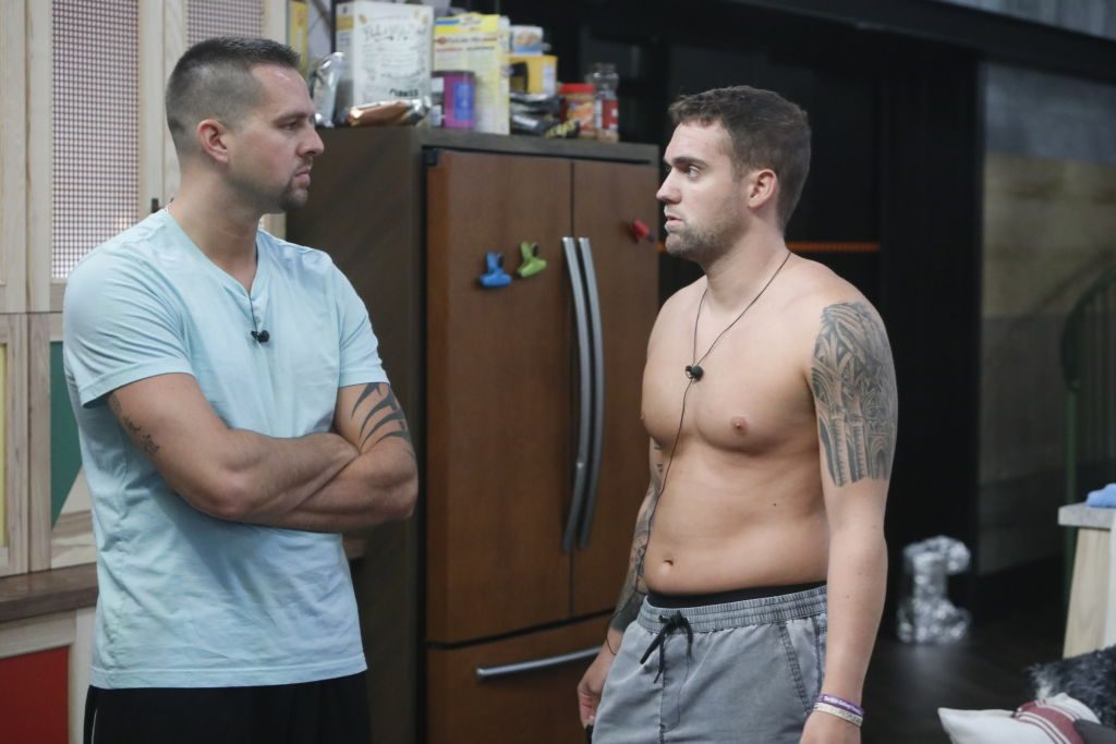 Sam Smith and Nick Maccarone 'talk in the kitchen on Big Brother'
