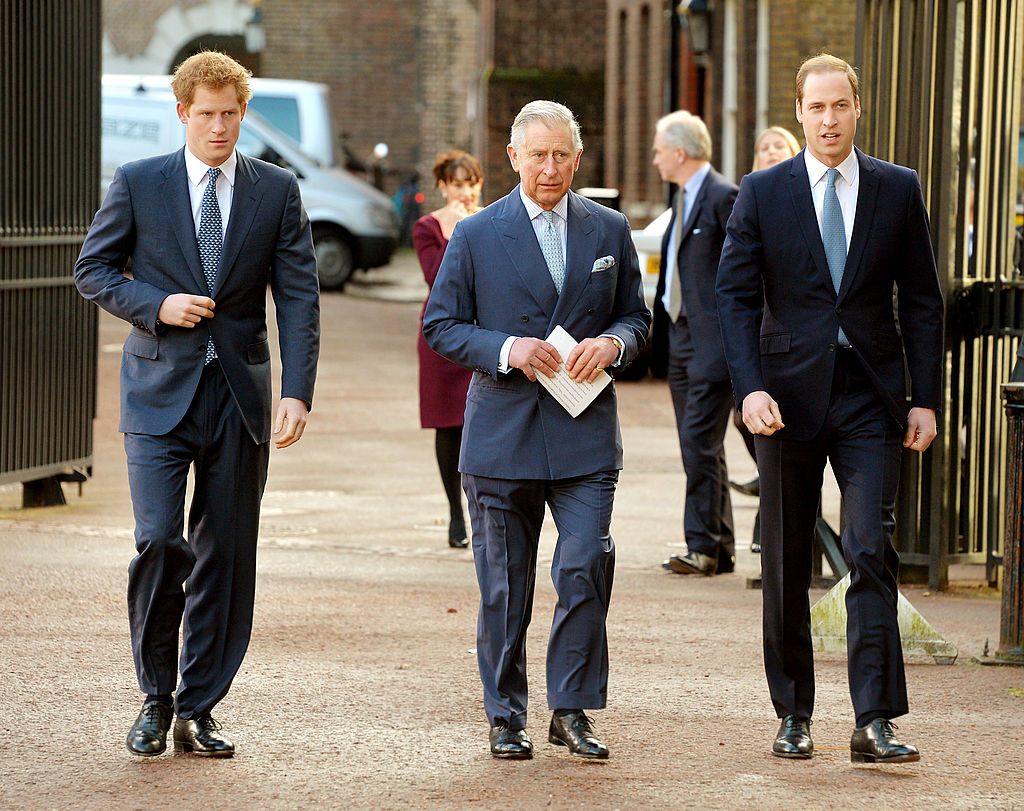 Prince Harry, Prince Charles and Prince William