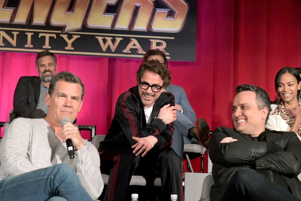 Josh Brolin, Robert Downey Jr. and Joe Russo MCU