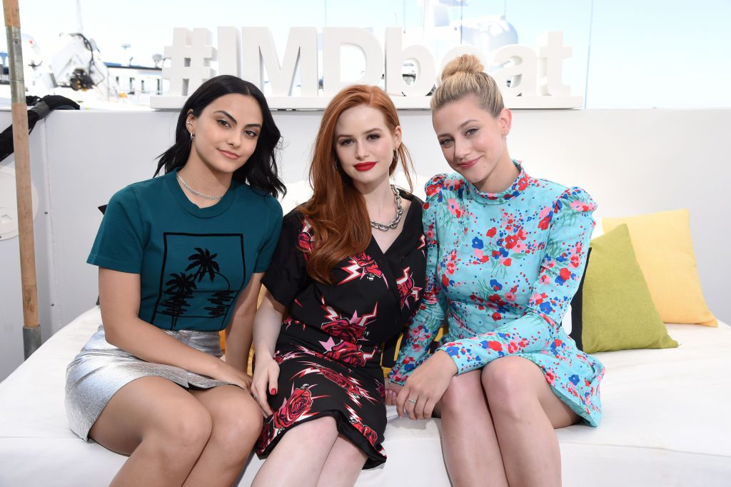 Camila Mendes, Madelaine Petsch and Lili Reinhart of 'Riverdale' pose together