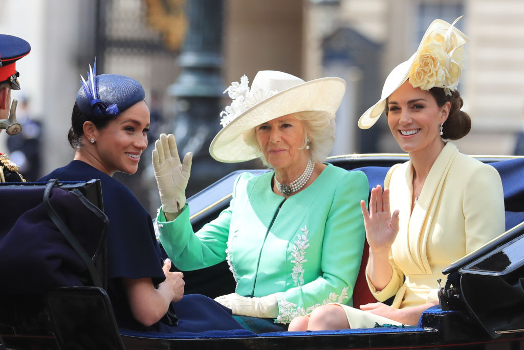 Kate Middleton, Meghan Markle, and Camilla Parker Bowles