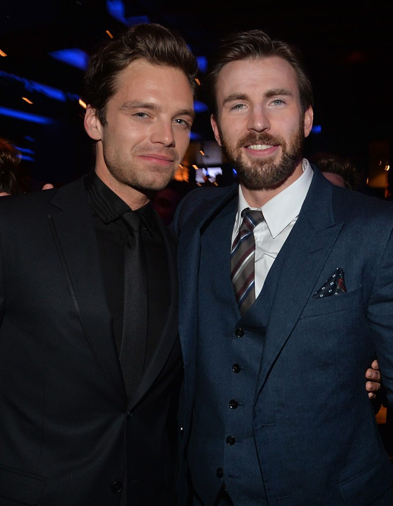 Captain America actor Chris Evans and Bucky Barnes actor Sebastian Stan