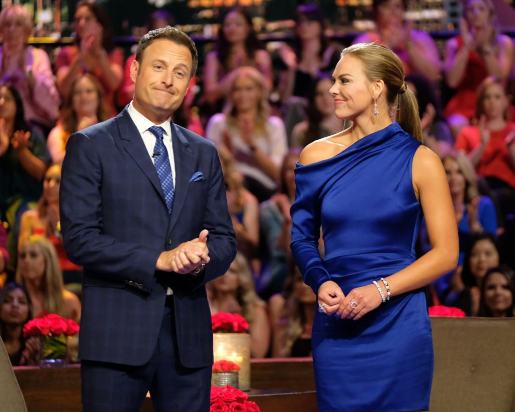 Chris Harrison and Hannah Brown | John Fleenor/ABC via Getty Images