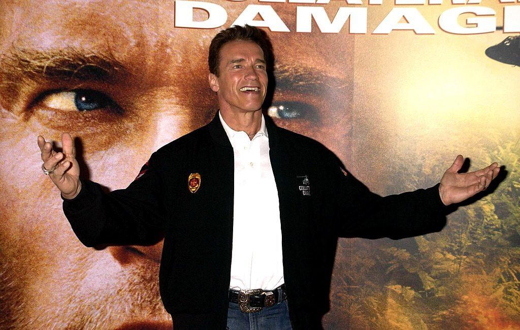 Arnold Schwarzenegger at the Collateral Damage premiere
