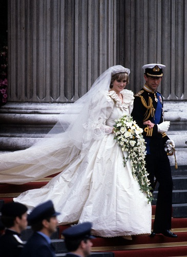 Princess Diana and the Prince of Wales