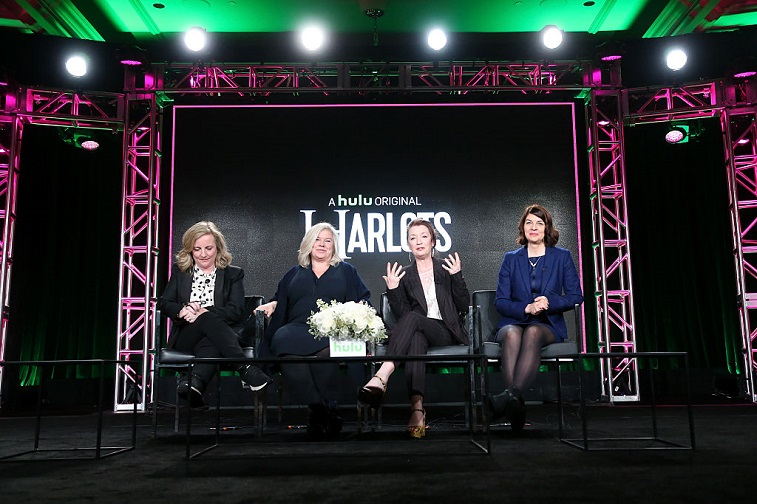 Debra Hayward, Alison Owen, Lesley Manville, and Moira Buffini