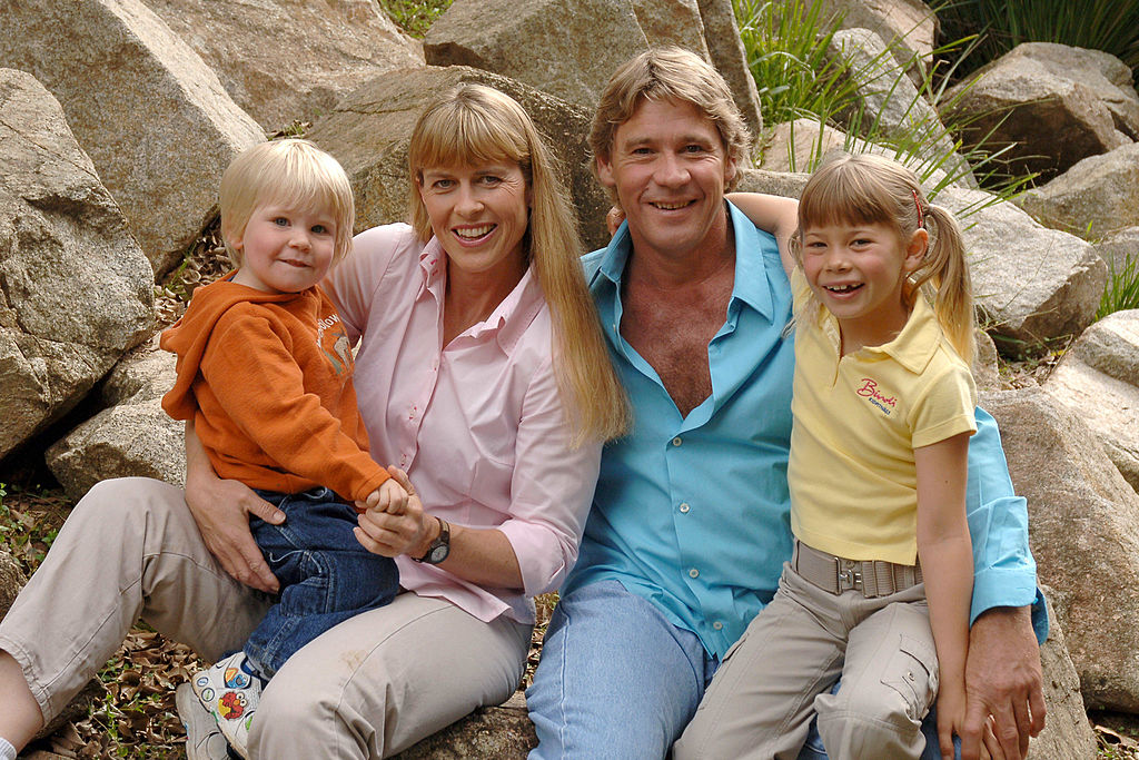 Steve Irwin with family