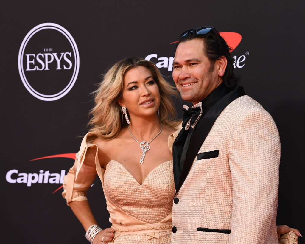 Johnny Damon and Michelle Mangan