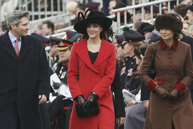 Kate Middleton with her parents Michael and Carole