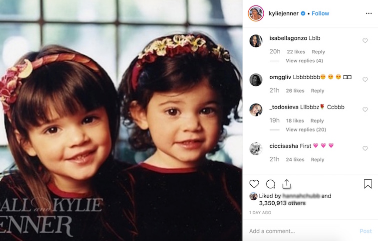 Kylie Jenner Instagram comments