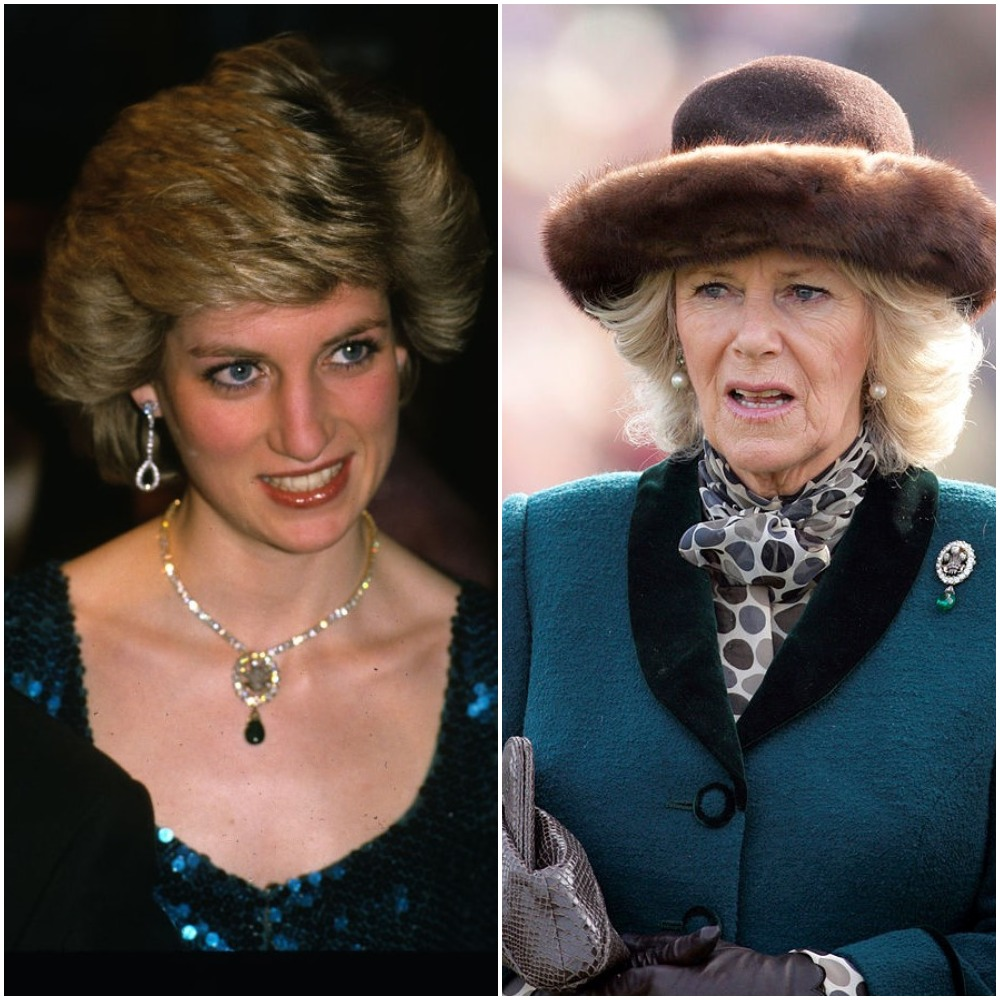 (L) Princess Diana (R) Camilla Parker Bowles