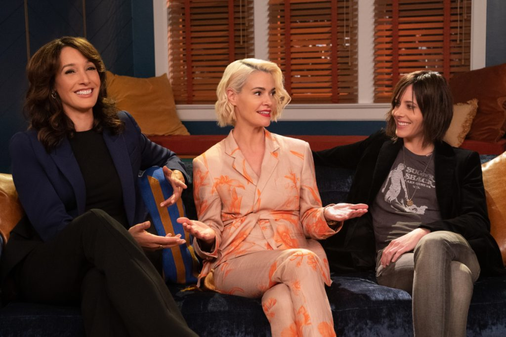 Jennifer Beals, Katherine Moennig and Leisha Hailey