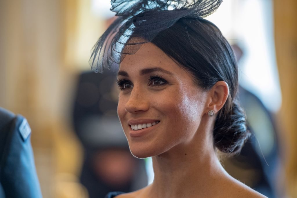 Meghan Markle attends a reception to mark the centenary of the Royal Air Force (RAF) at Buckingham Palace