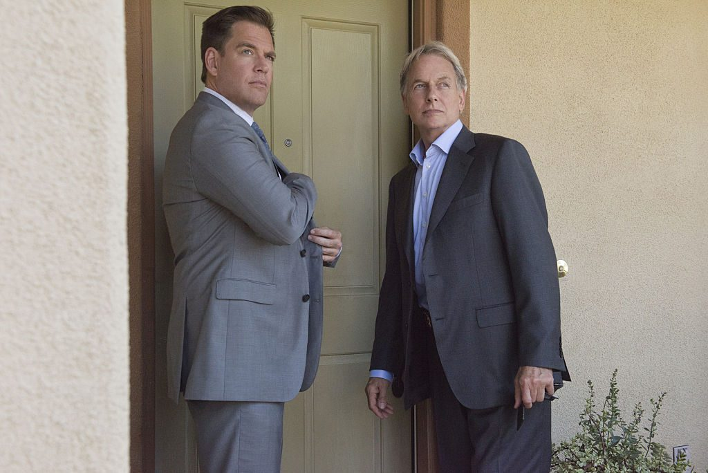 Michael Weatherly and Mark Harmon   Colleen Hayes/CBS via Getty Images
