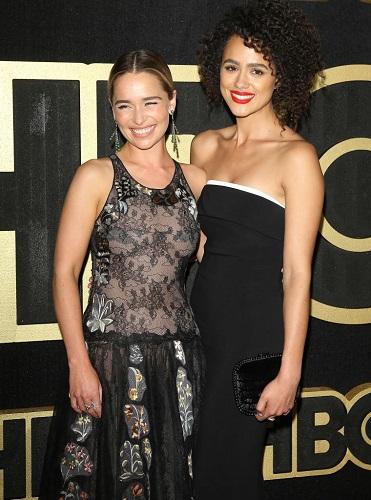 Emilia Clarke and Nathalie Emmanuel