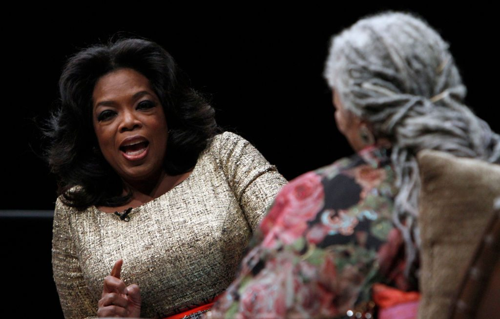 Oprah Winfrey and Toni Morrison    Frank Polich/Getty Images