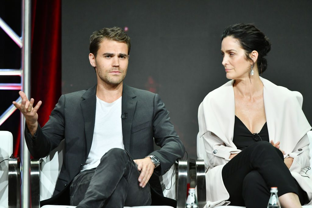 Paul Wesley and Carrie-Anne Moss