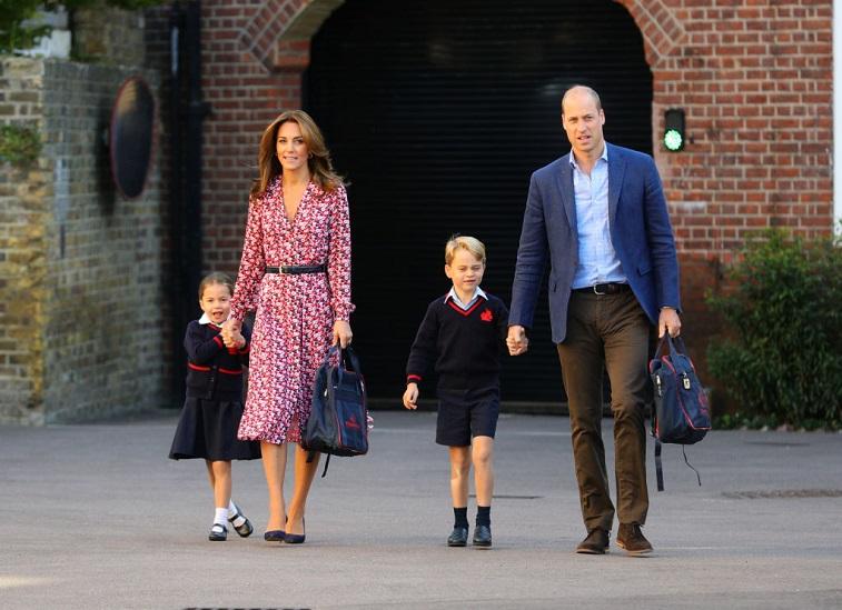 Princess Charlotte, Prince William, Catherine, Duchess of Cambridge, and Prince George
