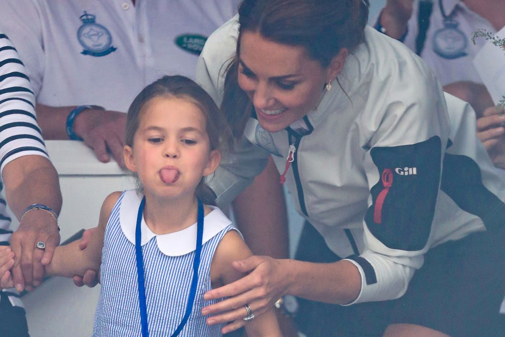 Princess Charlotte stuck out her tongue