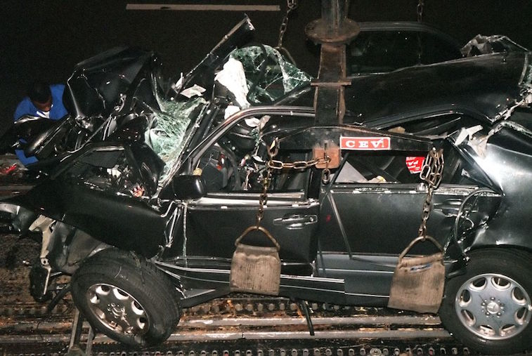 The car involved in Princess Diana's fatal accident.