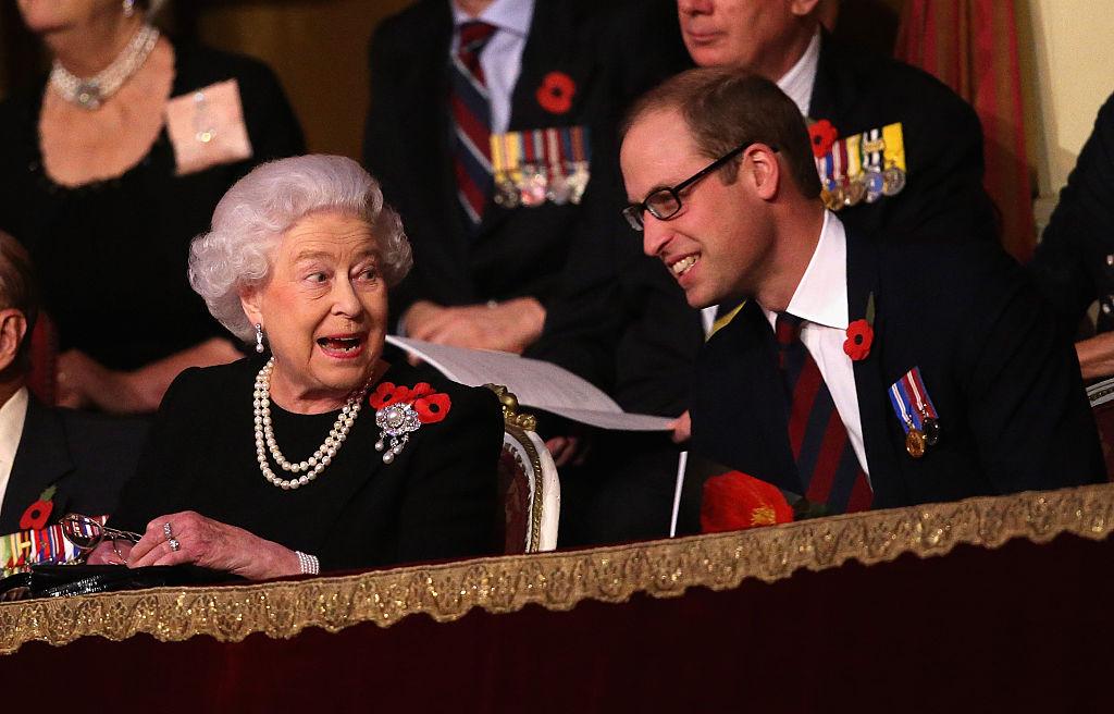 Queen Elizabeth and Prince William