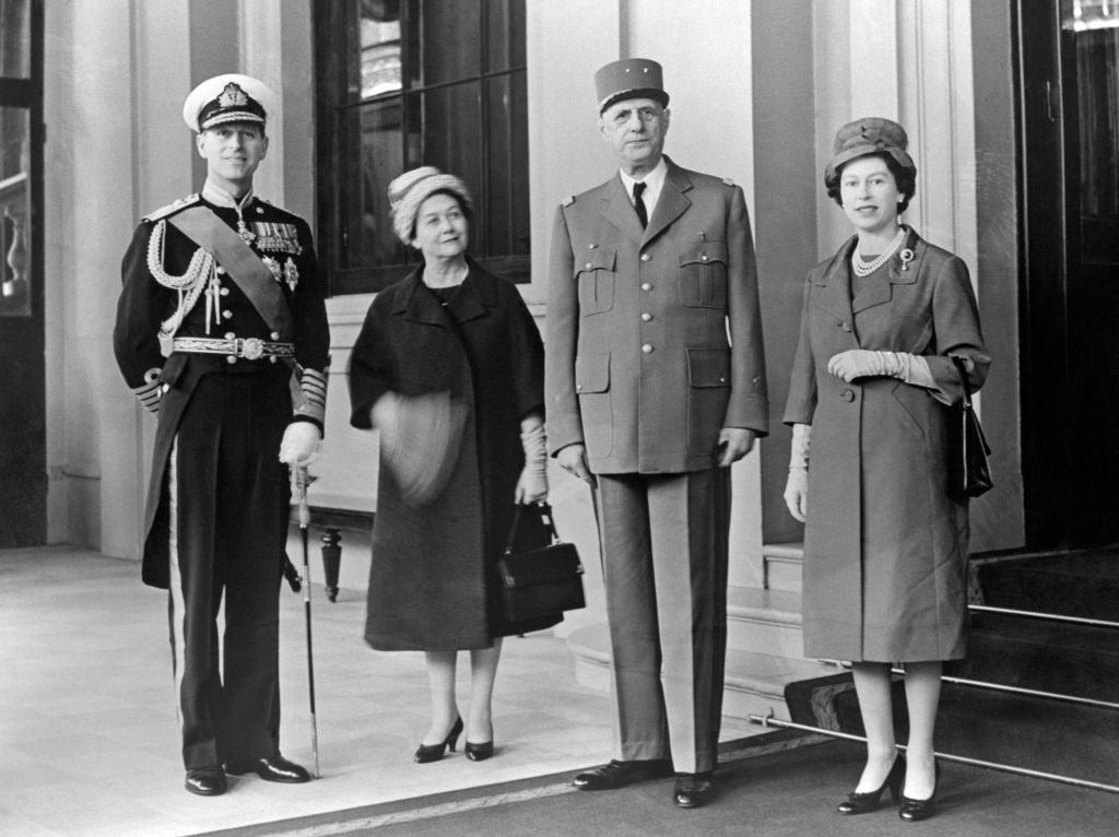 Queen Elizabeth and Madame de Gaulle