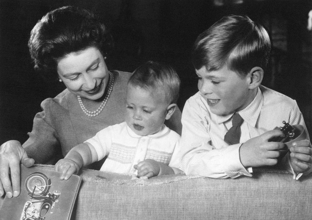 Queen Elizbabeth, Prince Andrew, and Prince Edward