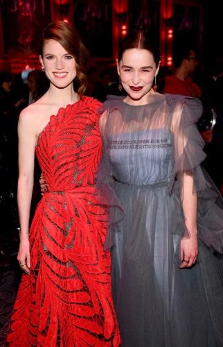 Rose Leslie and Emilia Clarke
