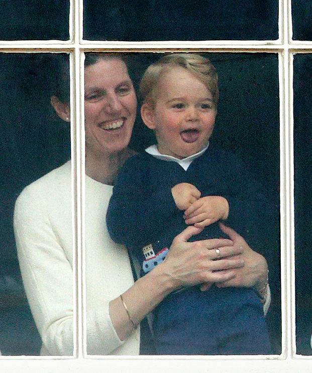 Royal nanny Maria Borrallo and Prince George