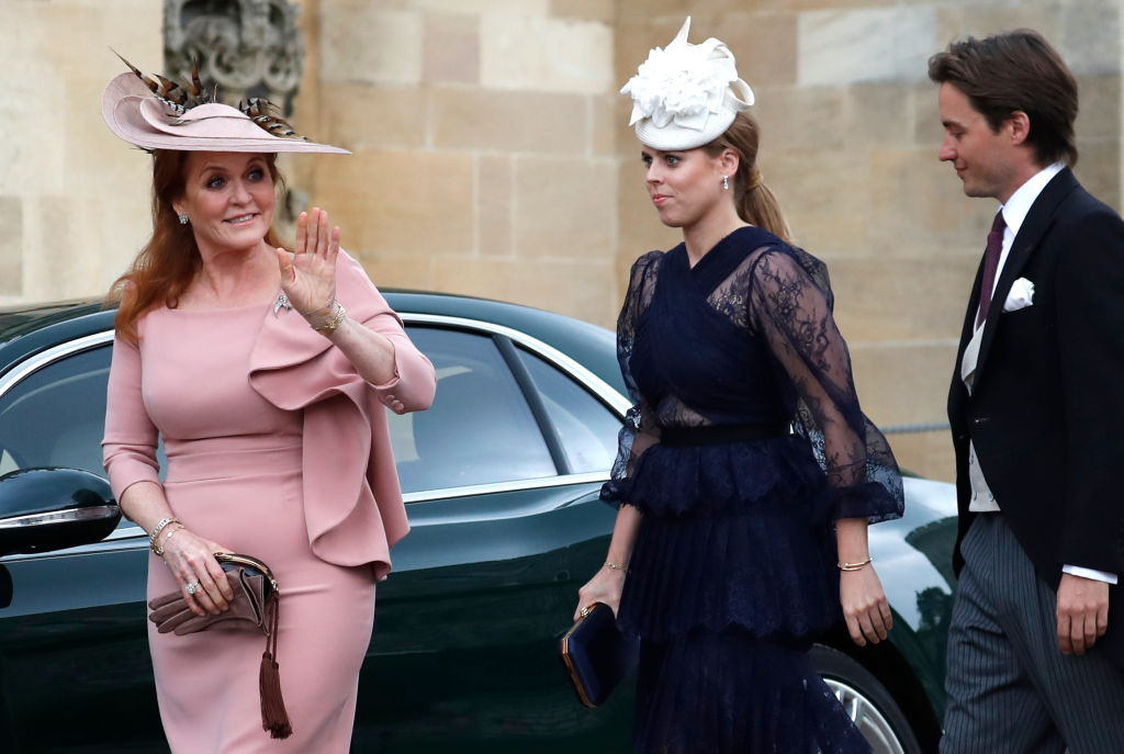 Sarah Ferguson, Princess Beatrice, and Edoardo Mapelli Mozzi