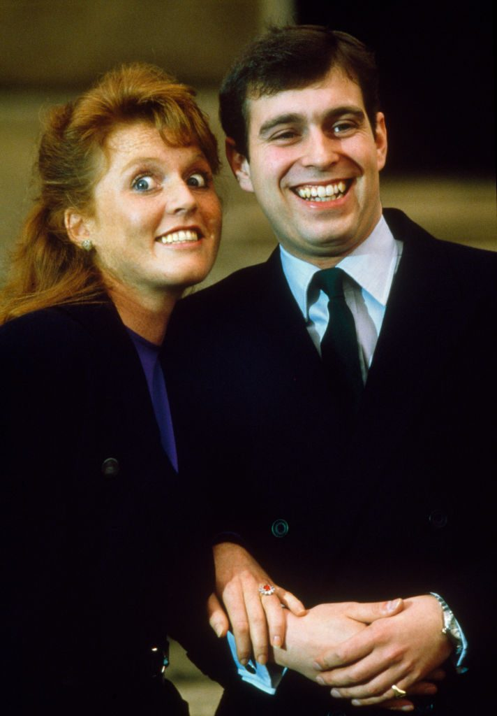 Prince Andrew and Sarah Ferguson engagement photo