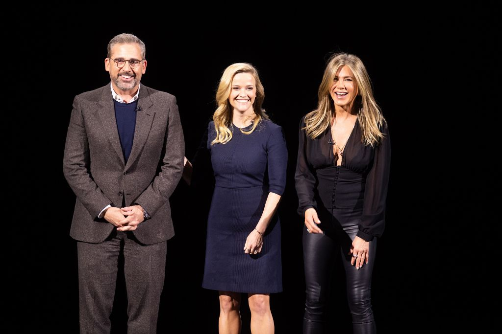 Steve Carell, Reese Witherspoon, and Jennifer Aniston from The Morning Show