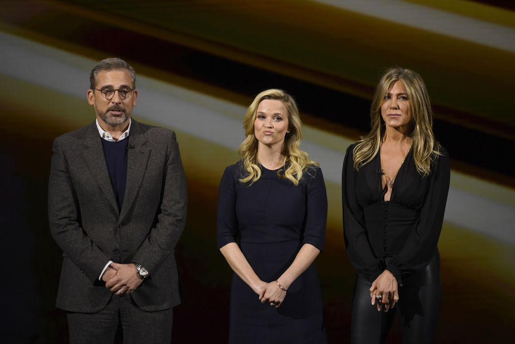 Actor Steve Carell, Reese Witherspoon, and Jennifer Aniston