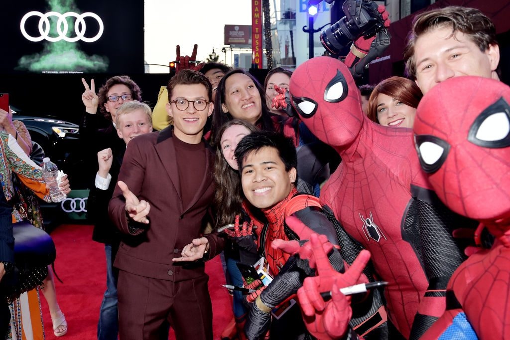 Tom Holland attends the World Premiere of 'Spider-Man: Far From Home'