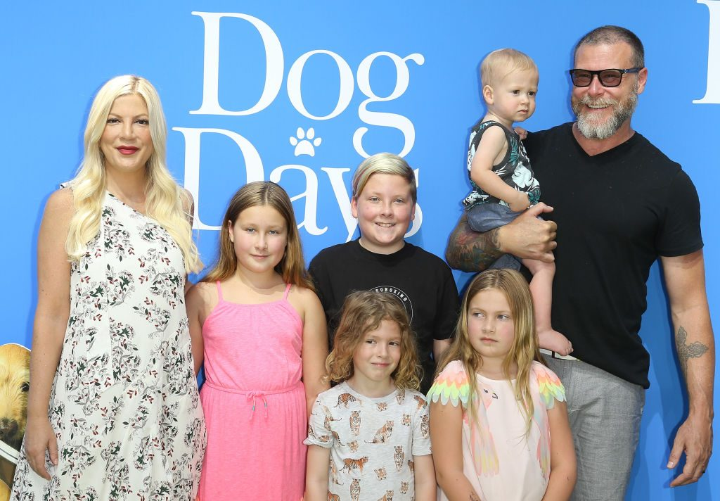 Tori Spelling and her family