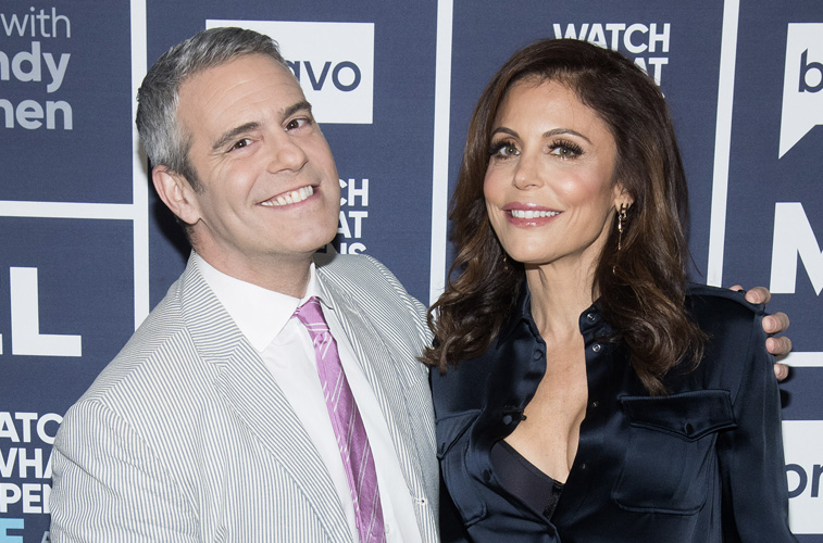 Andy Cohen and Bethenny Frankel
