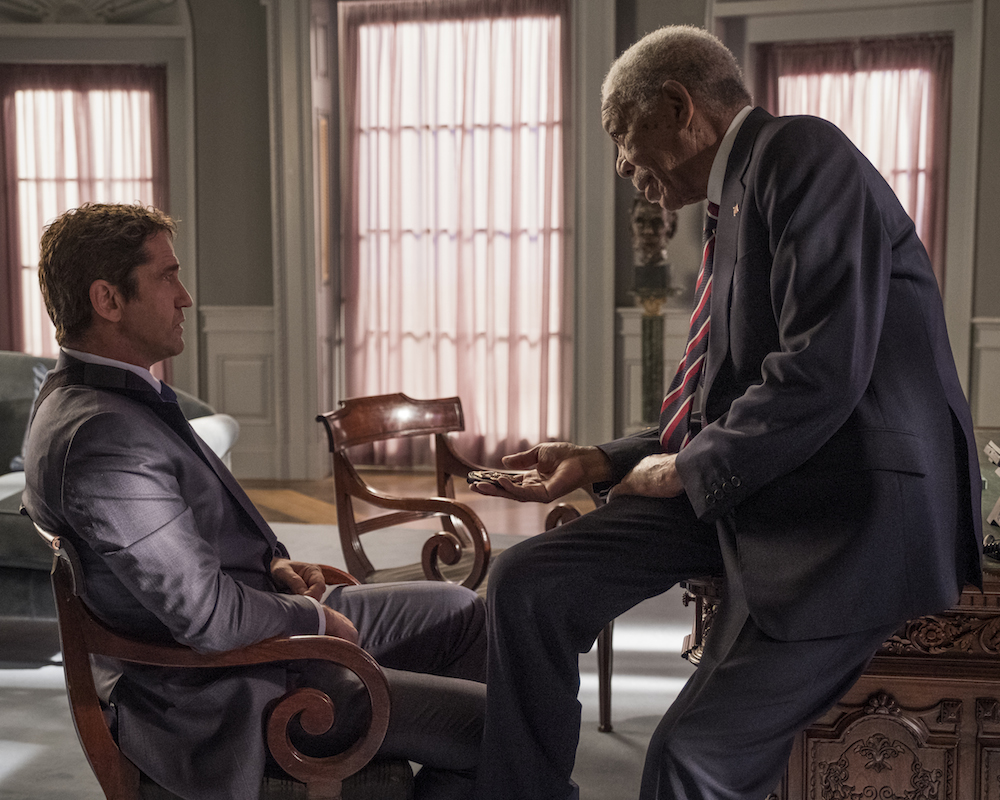 Gerard Butler and Morgan Freeman