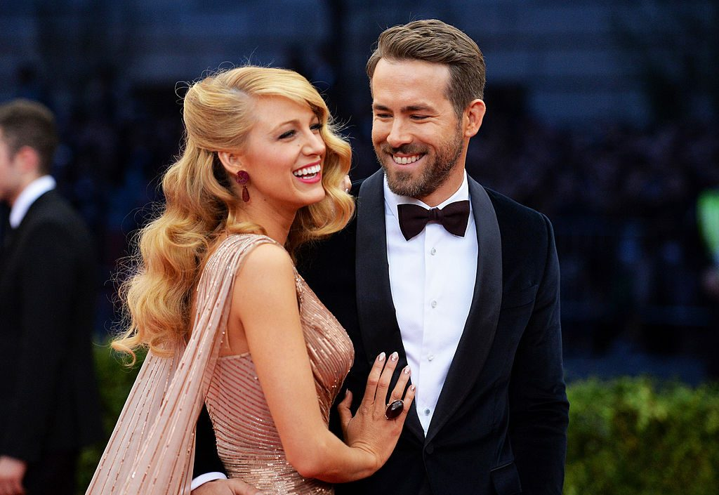 Blake Lively and Ryan Reynolds on the red carpet for an event