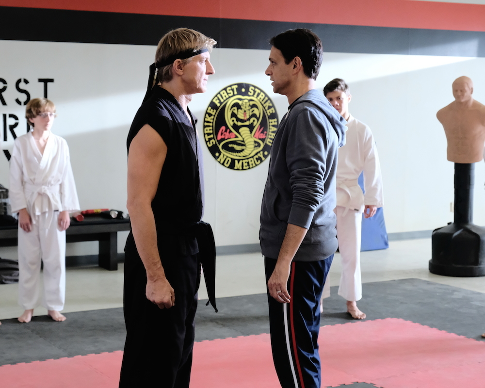 William Zabka and Ralph Macchio in Cobra Kai