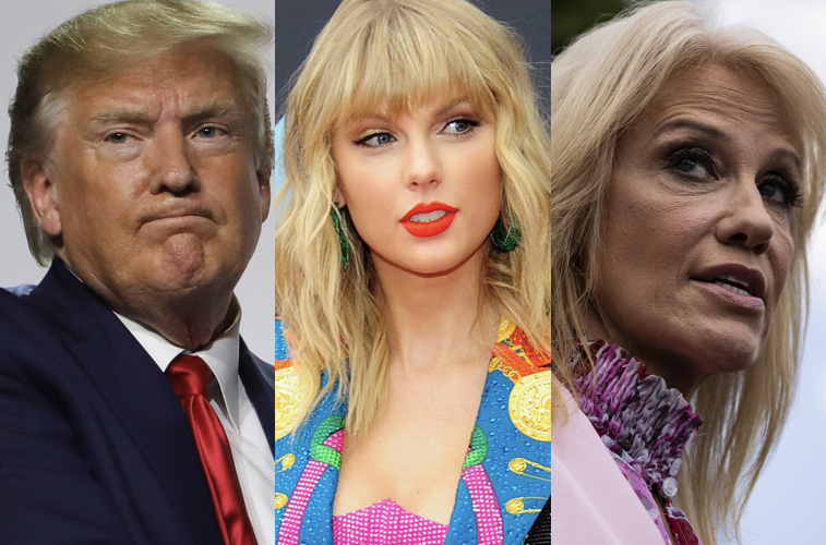Donald Trump, Taylor Swift and Kellyanne Conway