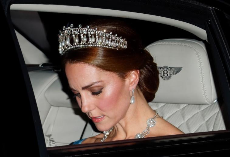Kate Middleton wearing tiara