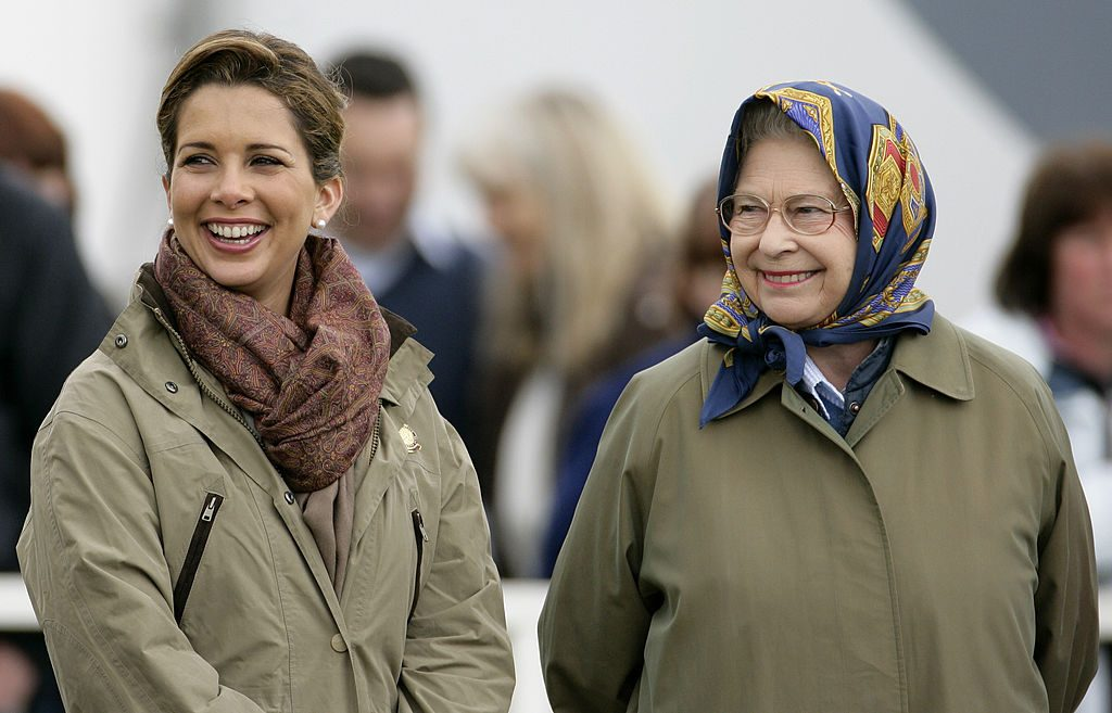 HRH Princess Haya Bint Al Hussein of Jordan and HM Queen Elizabeth II