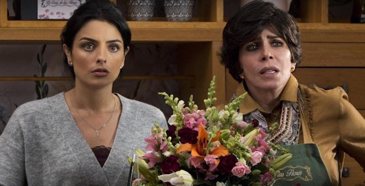 Veronica Castro and Aislinn Derbez in 'House of Flowers'