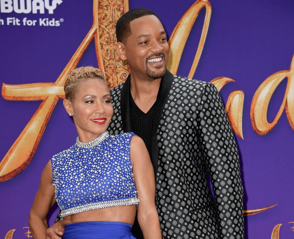 Jada Pinkett Smith and Will Smith, who are well known for their unconventional marriage, at the premiere of 'Aladdin'