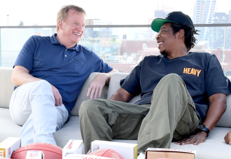 Jay-Z and Roger Goodell