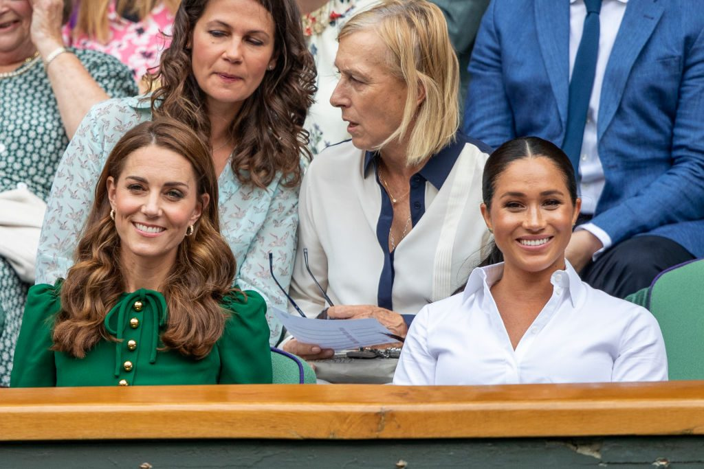 Kate Middleton (L) and Meghan Markle (R)